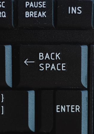 Enter and BACKSPACE keys on the keyboard 写真素材