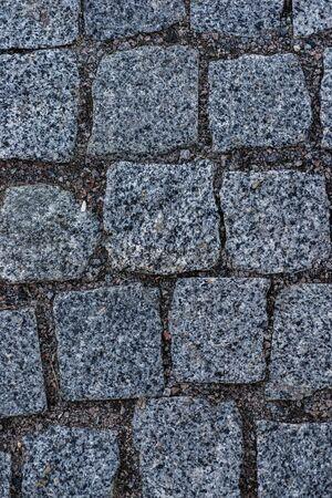 Texture of paving stones closeup