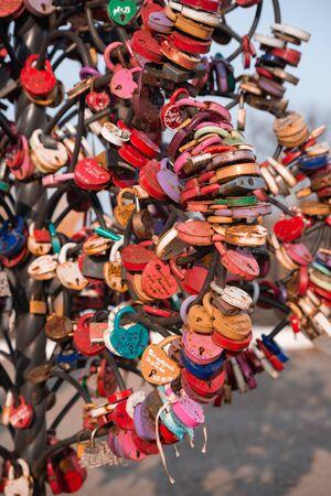 A lot of wedding locks