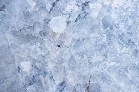 Texture macro photo of ice Stockfoto