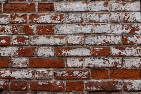 Macro texture of a beautiful red brickwork.