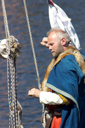 nobleman: The Norwegian konung is going to descend on the coast. The annual festival of the Norwegian Vikings which is taking place in May in St. Petersburg (Russia). Editorial