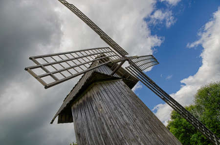 sooth: The reconstructed windmill in the village of Mikhaylovskoye (Pushkins estate, Russia).
