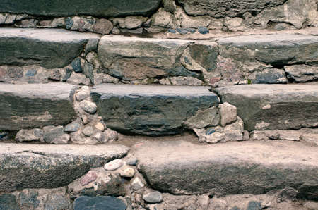 Ancient stone steps to the monastery staircase
