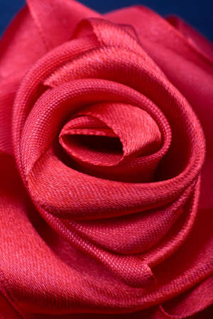 Satin red rose Stock Photo
