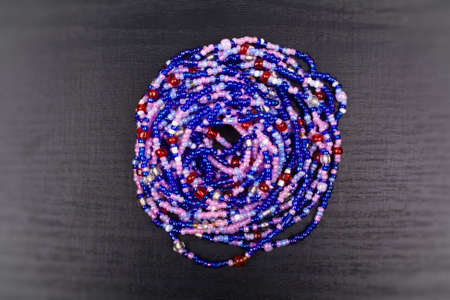 Ornament from color beads