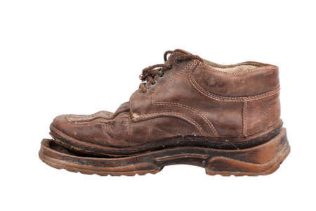old ragged shoes