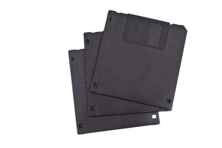 floppy disks in black isolated on white background