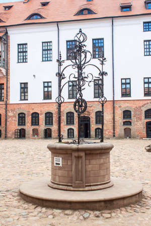 Well in the courtyard of the Mir Castle in Belarus
