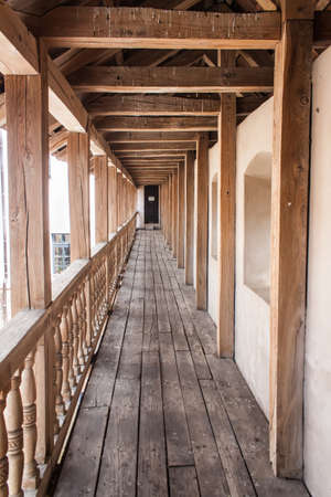 Fortress wooden gallery is located on the top of the ramparts