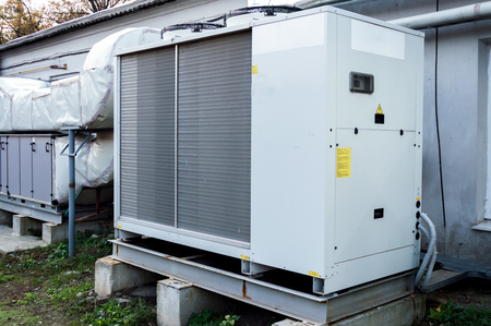 Commercial AC unit for central ventilation system