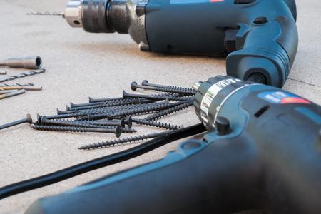 DIY tools sale copyspace screwdriver drill redecorating
