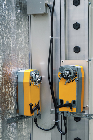 damper, ventilation, industrial, ductwork, actuator, modern, engineering
