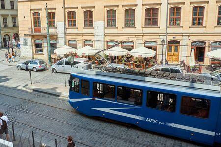 Krakow, travel, tourism, summer, tram, city transport