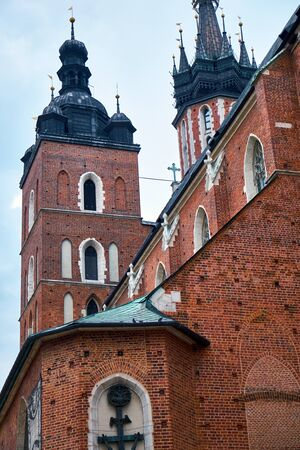 Side view of the domes of Wawel Cathedral Imagens