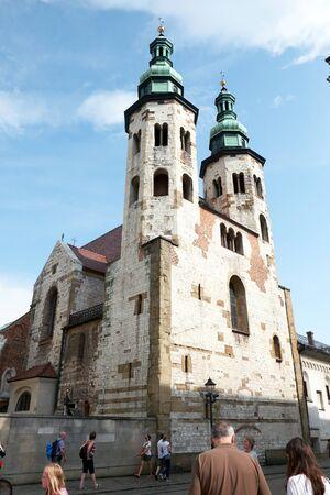 Krako, travel, tourism, summer, St, Andrew church Redactioneel