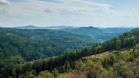 View of the mountain landscape in Czech Republic.