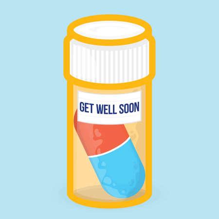 Get well soon gezonde motivatie vector-kaart