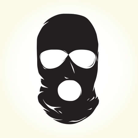 Terrorist mask isolated vector object