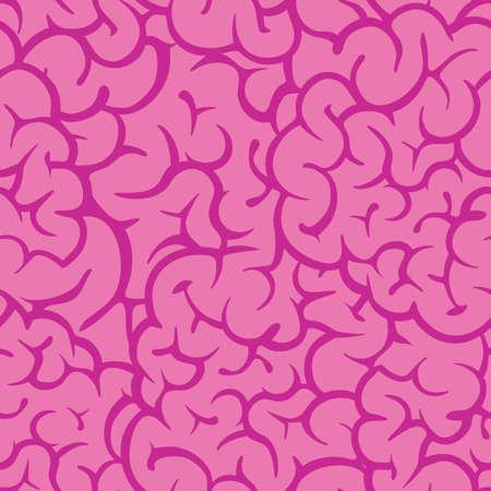 Roze darm halloween cartoon stijl spookachtig naadloze vector patroon achtergrond