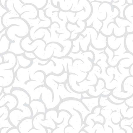White guts halloween cartoon style spooky seamless vector pattern background
