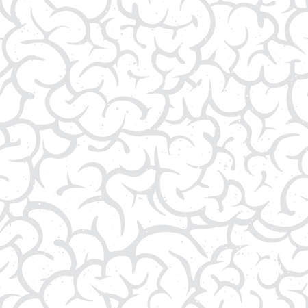 Witte ingewanden halloween cartoon stijl spookachtig naadloze vector patroon achtergrond