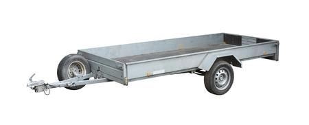 Aanhangwagen op wit wordt geïsoleerd Stockfoto - 24257817
