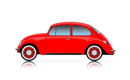 beetles: compact red car