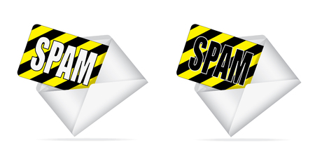 envelope with spam inside Stock Vector - 25465671
