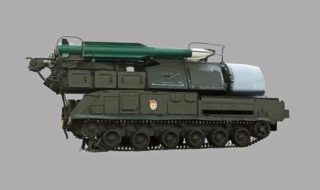 雪で覆われたソビエト ミサイル発射装置