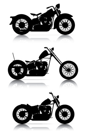 motorcycle racing: set of motorcycle silhouettes