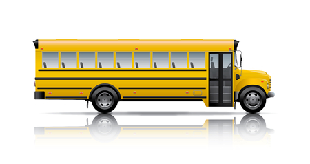 ni�os en la escuela: autob�s escolar