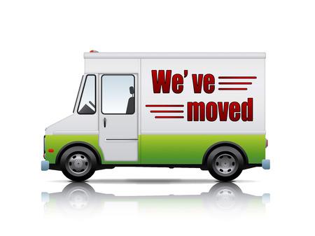 relocate: movers van Illustration