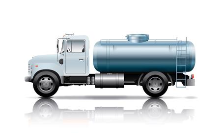 tanks: white tanker truck Illustration