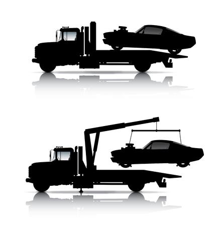 牽引トラック シルエット