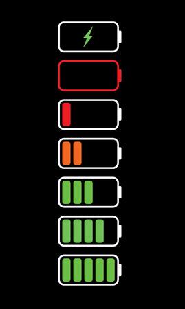 バッテリー サイン黒
