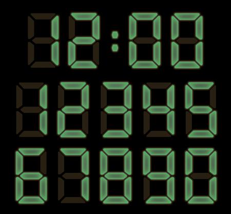 電子時計フォント 写真素材 - 82755857