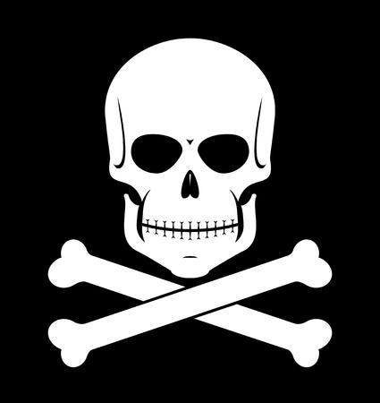頭骨および骨のアイコン。  イラスト・ベクター素材