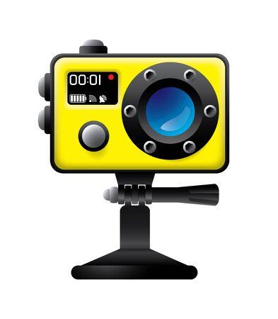 アクション カメラ アイコンをクリックします。  イラスト・ベクター素材