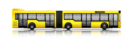 Long city bus illustration. Ilustrace