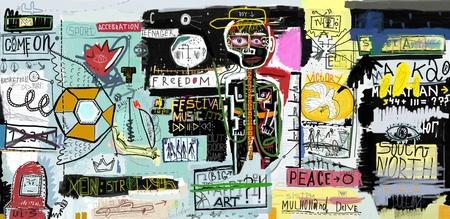 graffiti: La pintura, que contiene una gran variedad de personajes