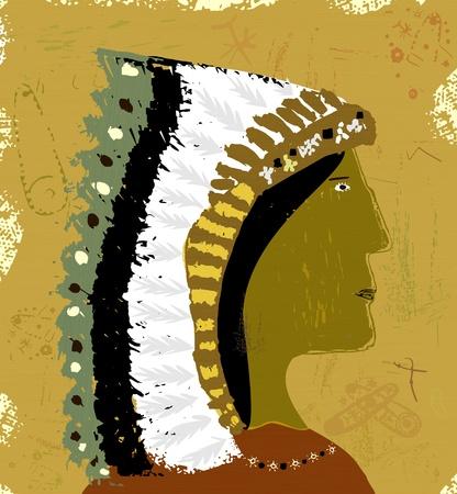 chieftain: Immagine di Indian Vettoriali