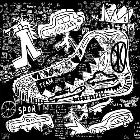 The symbolic image of the shoe Ilustracja