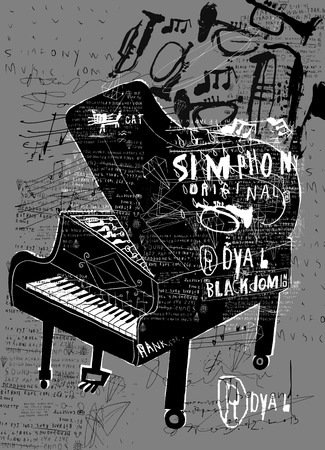 Symbolic image of the piano  Vector