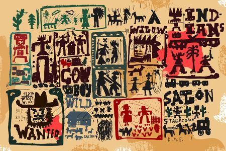 Las imágenes de los personajes que pertenecen a la época del salvaje oeste