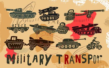 Symbolic image of the Soviet Union military transport