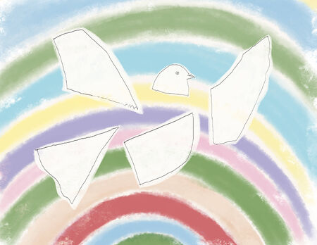mutual assistance: The dove, the symbol of hope Stock Photo