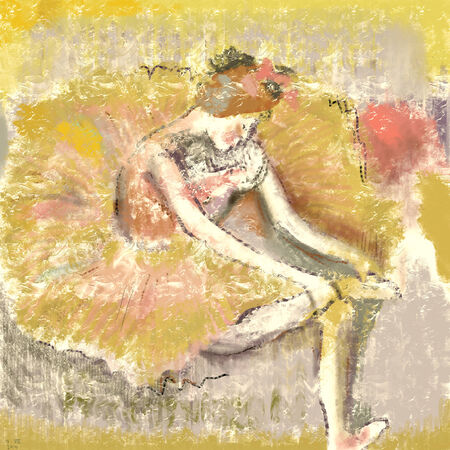 abstract painting:  Ballerina in the impressionist style