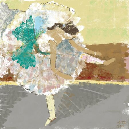 Ballerina in the impressionist style