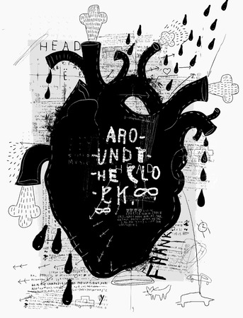 vintage anatomy: Image of the heart